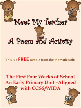 ESL Resource and Activity for Early Primary and ESL/ELL Ne