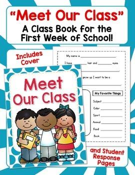 Meet Our Class - A Class Book for the First Week of School