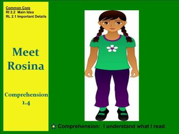 Meet Rosina Comprehension SMART notebook Grade 2 Unit 1 We