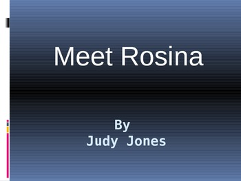 Meet Rosina Vocabulary