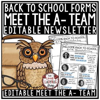 Meet The Administration Team EDITABLE
