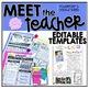 Meet The Teacher Bundle  {Back to School Printables}