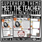 Superhero Meet The Teacher Newsletter • Meet The Teacher Letter • Welcome Letter