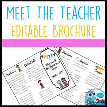 Meet The Teacher Night Brochure - EDITABLE