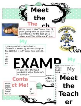 Meet The Teacher Page