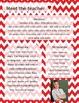 Red and White Chevron Meet The Teacher Template **Editable**