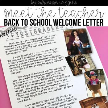 Meet The Teacher/Open House Letter FREEBIE