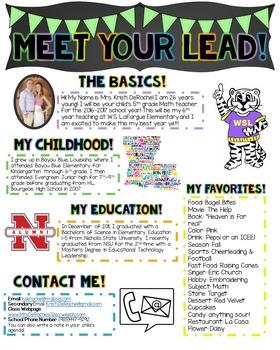 Meet Your Lead Newsletter- EDITABLE