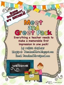 Meet and Greet Pack/Meet the Teacher Pack