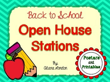 Back to School: Meet and Greet or Open House Stations