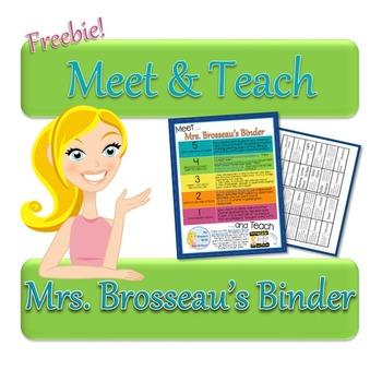 Meet and Teach with Mrs. Brosseau's Binder - Astronomy FREEBIE!