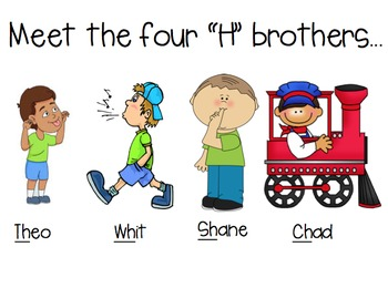 Meet the 4 H brothers (sh, ch, th, wh lesson)