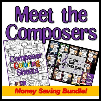 Meet the Composers Bundle - Bulletin Board and Coloring Sh