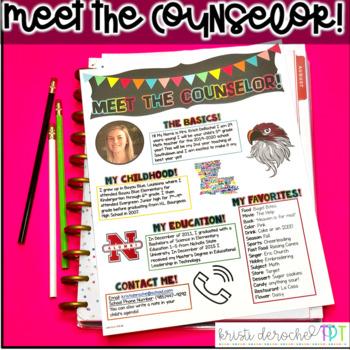Meet the Counselor Newsletter- EDITABLE