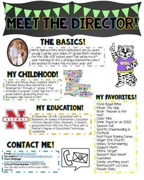 Meet the Director Newsletter- EDITABLE