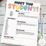 Meet the Student Newsletter- EDITABLE
