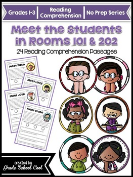 Meet the Students in Rooms 101 & 202: 24 Reading Comprehen