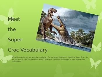 Meet the Super Croc Vocabulary PowerPoint