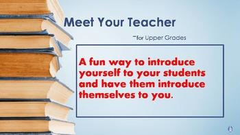 Meet Your Teacher for Upper Grades