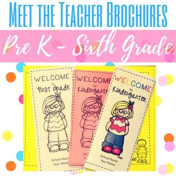 Meet the Teacher Brochures EDITABLE!