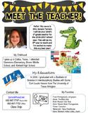 Meet the Teacher Editable 2016