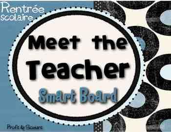 Meet the Teacher // Editable on Notebook