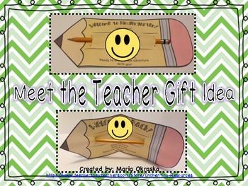 Meet the Teacher Gift Idea - Pencil Poem