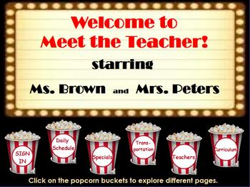 Meet the Teacher Hollywood theme flipchart