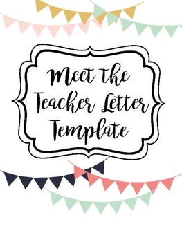Meet the Teacher Letter Template