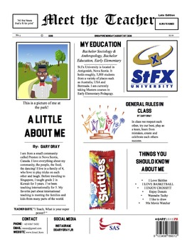 Meet the Teacher News Letter