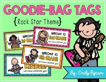 Meet the Teacher Night Goodie Bag Tags! (Rock Star Themed!)
