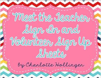 Meet the Teacher, Open House, Back to School EDITABLE Sheets