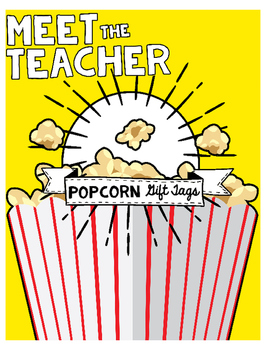 Meet the Teacher: Popcorn Gift Tags