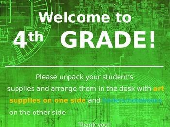 Meet the Teacher Powerpoint Slideshow Presentation - Green
