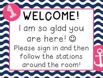 Meet the Teacher Stations, Forms, and Treats