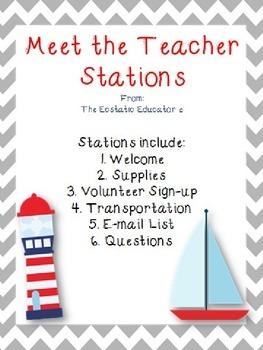 Meet the Teacher Stations- Nautical Theme