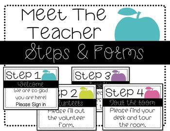 Meet the Teacher- Steps & Forms