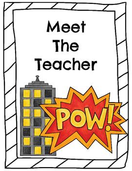 Meet the Teacher - Superhero Theme