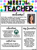 Meet the Teacher Watercolor Printable- EDITABLE