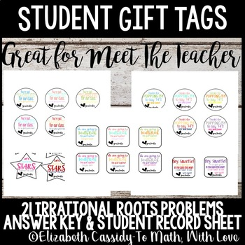 Meet the Teacher gift tags for students-Back to school-Stu
