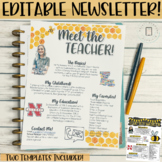 Meet the Teachers Newsletter EDITABLE- Bee - Black and Yel