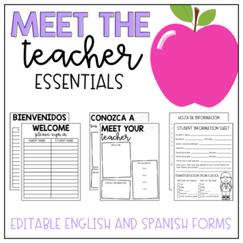 Meet the teacher pack