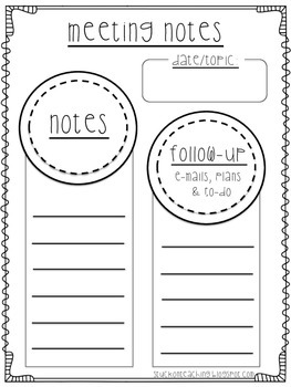 Meeting Notes Freebie!