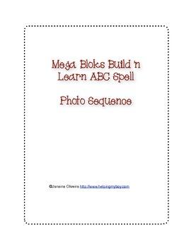 Mega Bloks Build 'n Learn ABC Spell Sequence cards
