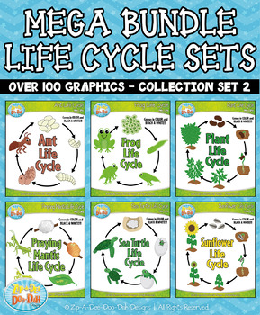 Mega Bundle Life Cycle Collection Set 2 — Over 100 Graphics!