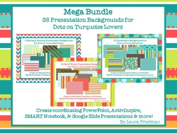 Mega Bundle of Presentation Backgrounds for Dots on Turquo