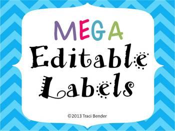 Mega Editable Labels