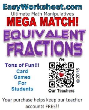 Mega Match - Equivalent Fractions
