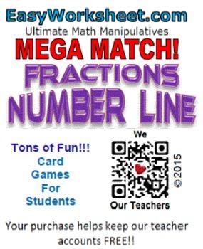 Mega Match - Fractions - Number Line