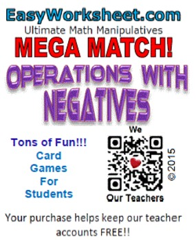 Mega Match -  Operations with Negatives